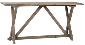 68″ Reclaimed Pine Console Table in Natural Wood Finish