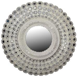 35″ Round Carved Mirror