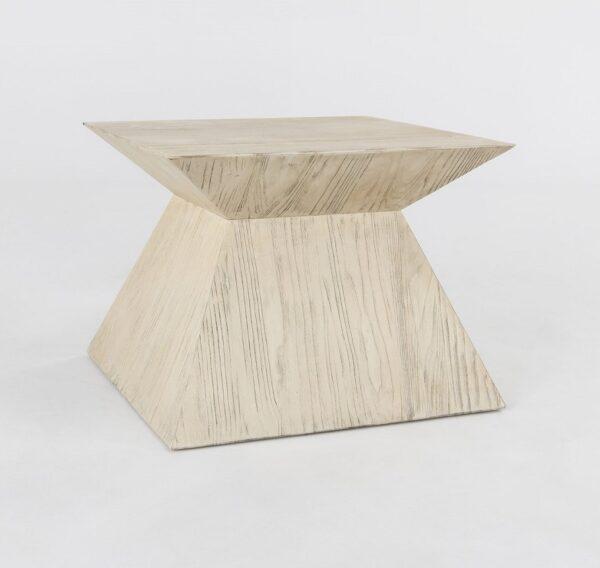 Geometrical white side table
