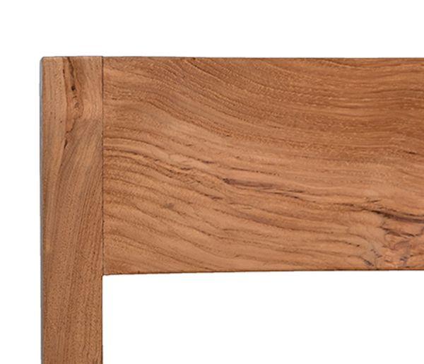 Teak bar stool side view